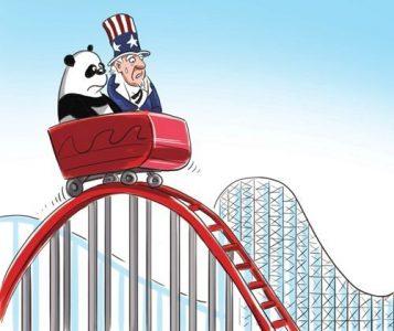 china en amerika in achtbaan